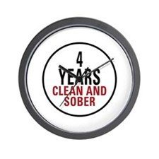 4 Years Clean & Sober Wall Clock