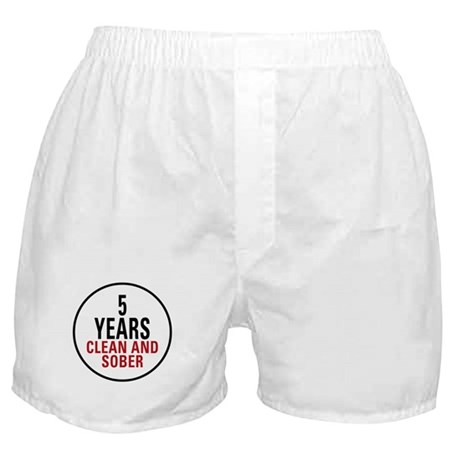 5 Years Clean & Sober Boxer Shorts