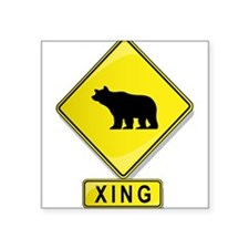 Bear XING Rectangle Sticker