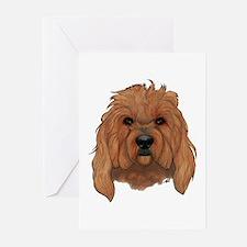 Golden Doodle Dog Greeting Cards (Pk of 20)