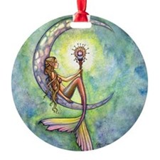 Mermaid Moon Fantasy Art Ornament