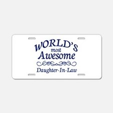 Daughter-In-Law Aluminum License Plate
