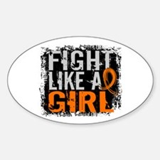 Licensed Fight Like a Girl 31.8 RSD Sticker (Oval)