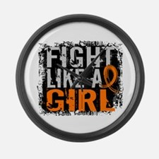 Licensed Fight Like a Girl 31.8 R Large Wall Clock