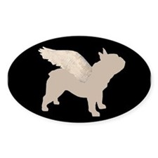 french bulldog wings Rectangle Decal