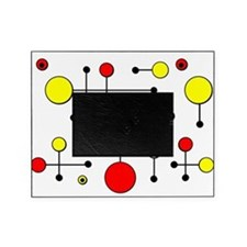 Red & Yellow Dot Dash Picture Frame