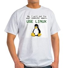 Use Linux Ash Grey T-Shirt T-Shirt