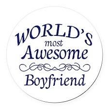 Boyfriend Round Car Magnet