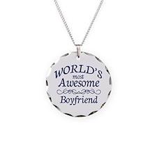 Boyfriend Necklace Circle Charm
