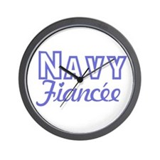Navy Fiancee Wall Clock