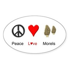 Peace Love Morels Decal