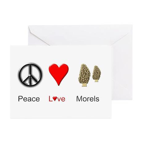 Peace Love Morels Greeting Cards (Pk of 10)