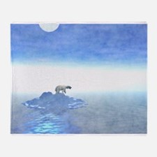 Polar Bear On Iceberg Throw Blanket