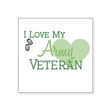Army Veteran Rectangle Sticker