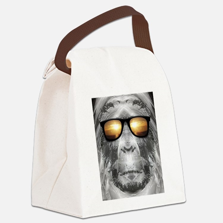 Bigfoot In Shades Canvas Lunch Bag