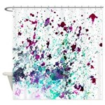 Forget-Me-Nots Sea Green Shower Curtain