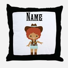 African American Cowgirl Throw Pillow