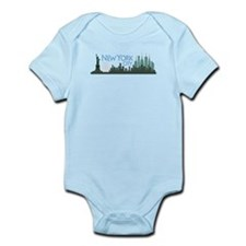 NYC Liberty Skyline dark Infant Bodysuit