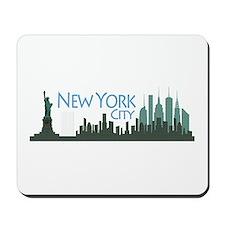 NYC Liberty Skyline dark Mousepad
