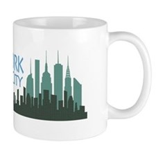 NYC Liberty Skyline dark Mug