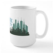 NYC Liberty Skyline dark Mug