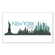 NYC Liberty Skyline dark Decal