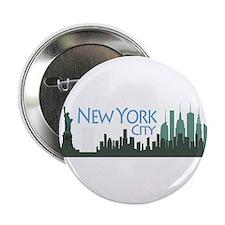 "NYC Liberty Skyline dark 2.25"" Button"