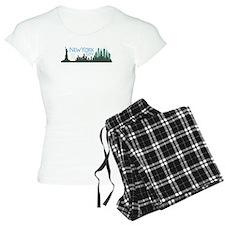 NYC Liberty Skyline dark Pajamas