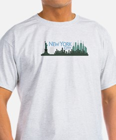 NYC Liberty Skyline dark T-Shirt