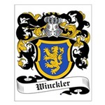 Winckler Coat of Arms Small Poster