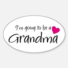 I'm going to be a Grandma! Oval Decal