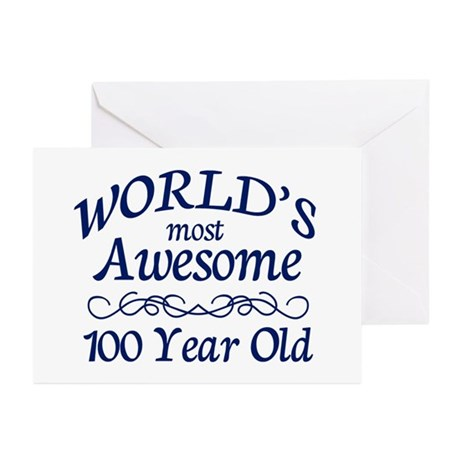 Awesome 100 Year Old Greeting Cards (Pk of 10)