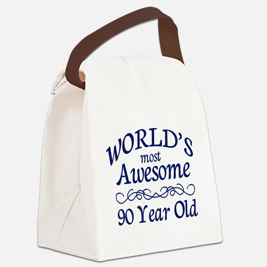 Awesome 90 Year Old Canvas Lunch Bag