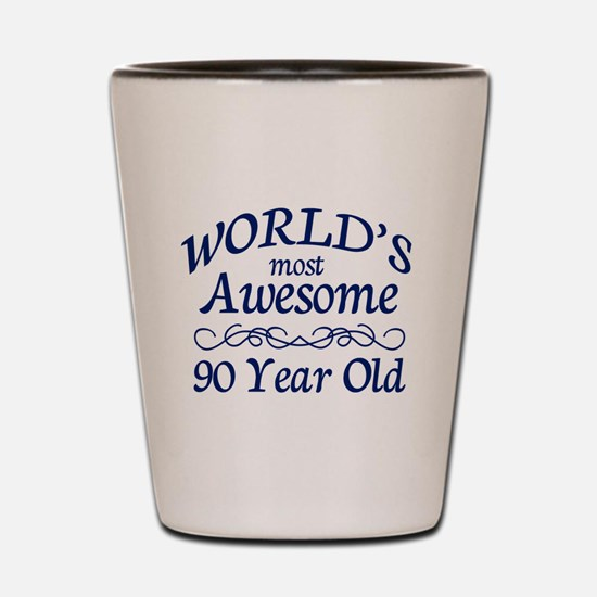 Awesome 90 Year Old Shot Glass
