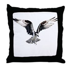 Hunting osprey Throw Pillow
