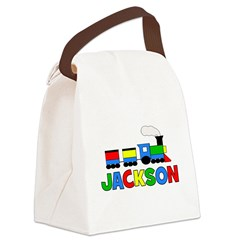 TRAIN - Personalized JACKSON Canvas Lunch Bag