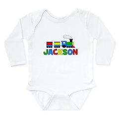 TRAIN - Personalized JACKSON Long Sleeve Infant Bo