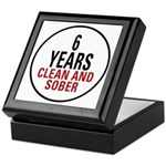 6 Years Clean & Sober Keepsake Box