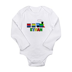 TRAIN_Ethan.png Long Sleeve Infant Bodysuit