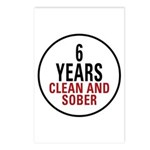 6 Years Clean & Sober Postcards (Package of 8)