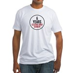 6 Years Clean & Sober Fitted T-Shirt