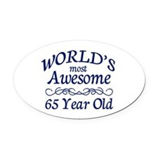 Awesome 65 Year Old Oval Car Magnet