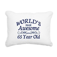 Awesome 65 Year Old Rectangular Canvas Pillow