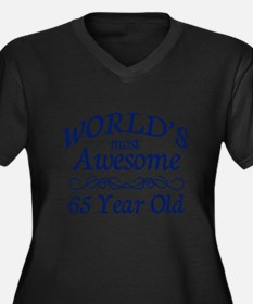 Awesome 65 Year Old Women's Plus Size V-Neck Dark