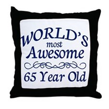 Awesome 65 Year Old Throw Pillow