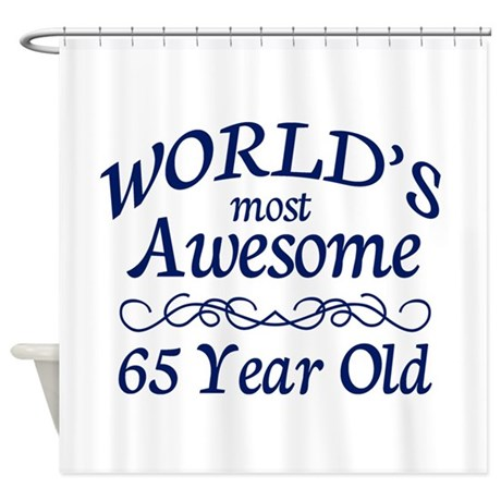 Awesome 65 Year Old Shower Curtain