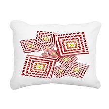 Atomic Red Prizm Rectangular Canvas Pillow
