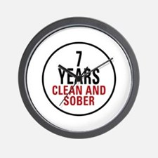 7 Years Clean & Sober Wall Clock