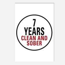 7 Years Clean & Sober Postcards (Package of 8)