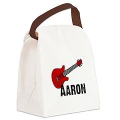 guitar_aaron.jpg Canvas Lunch Bag
